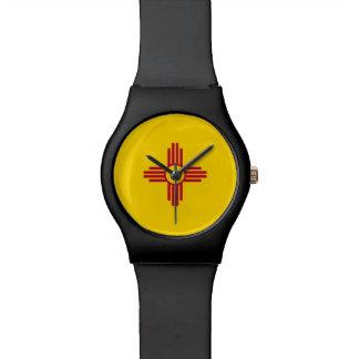 New Mexiko-Flagge Uhr