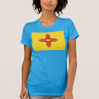 New Mexiko-Flagge ZIA-Herz - Kfz-Kennzeichen-Art T-Shirt