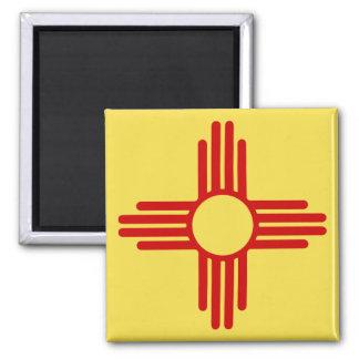 New Mexiko-Flaggen-Magnet Quadratischer Magnet