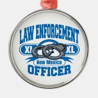 New Mexiko-Gesetzeshüter-Handschellen Silbernes Ornament