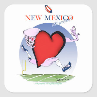 New-Mexiko Hauptherz, tony fernandes Quadratischer Aufkleber