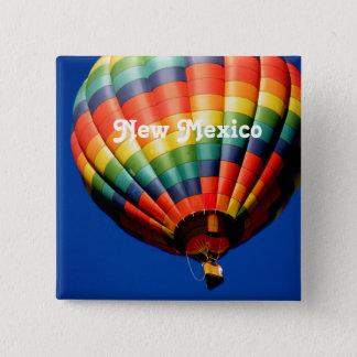 New Mexiko-Im Ballon aufsteigen Quadratischer Button 5,1 Cm