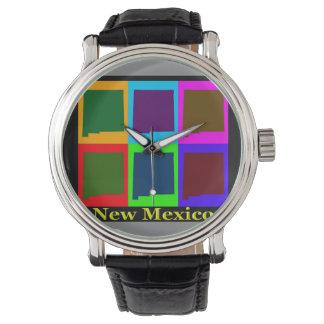 New Mexiko-Karte Armbanduhr