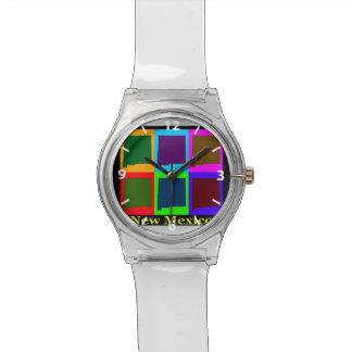 New Mexiko-Karte Uhr