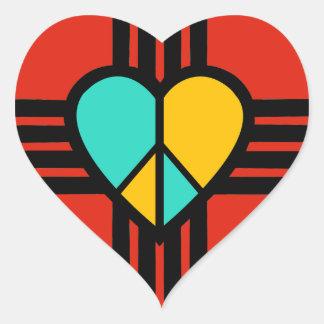 New-Mexiko, Liebe, Frieden Herz-Aufkleber