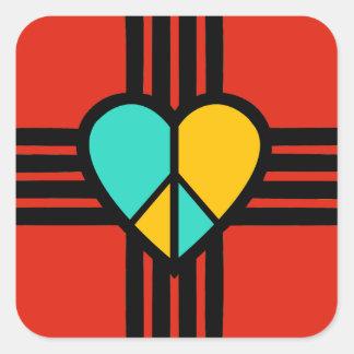 New-Mexiko, Liebe, Frieden Quadratischer Aufkleber
