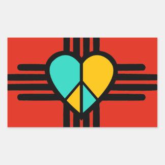 New-Mexiko, Liebe, Frieden Rechteckiger Aufkleber