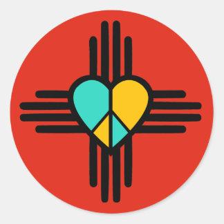 New-Mexiko, Liebe, Frieden Runder Aufkleber