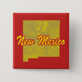 New Mexiko Quadratischer Button 5,1 Cm