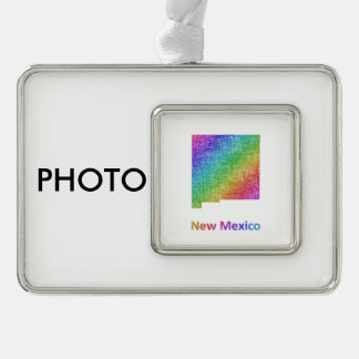 New Mexiko Rahmen-Ornament Silber