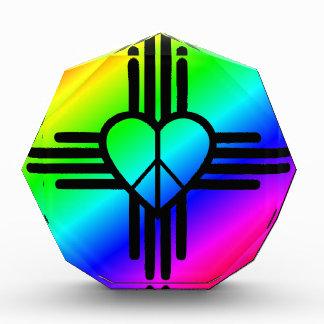 New-Mexiko Regenbogen-Liebe Acryl Auszeichnung