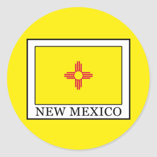 New Mexiko Runder Aufkleber
