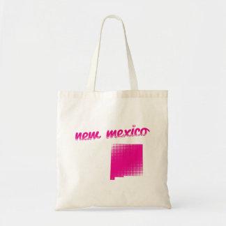 New-Mexiko Staat im Rosa Tragetasche