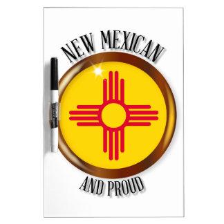 New Mexiko-stolzer Flaggen-Knopf Trockenlöschtafel