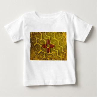New Mexikoflagge Schritt Baby T-shirt