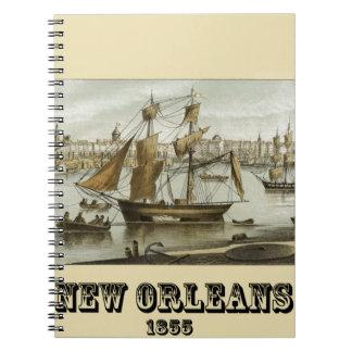 New Orleans 1855 Spiral Notizblock