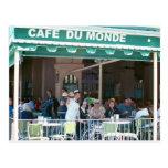 New Orleans Kaffee und Beignets Postkarte