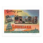 New Orleans, Louisiana - große Buchstabe-Szenen Postkarte