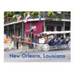 New Orleans, Louisiana-Haus u. Wagen Postkarten