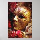 New- Orleanskarneval-Masken-Plakat-Druck Poster