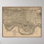 New- Orleanskarte 1849 Plakate