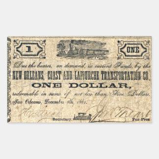 New- Orleansküsten-Antiken-Verbündet-Geld Rechteckiger Aufkleber