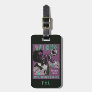 New- Orleansmusikgewohnheits-Gepäckanhänger Kofferanhänger