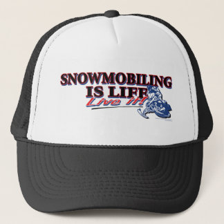 NEW-SNOWMOBILING-IS-LIFE TRUCKERKAPPE