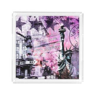 New York Acryl Tablett