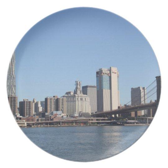 New York als Melaminteller