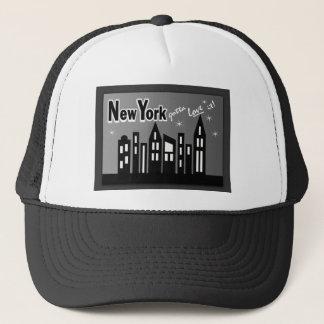 New York--An Liebe es gelangt! Mit niedlichen Truckerkappe