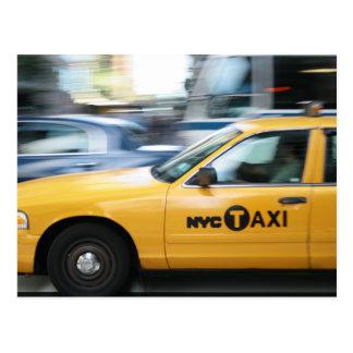 New York Cab Postkarte