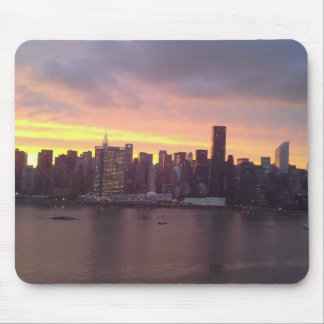 New York City am Sonnenuntergang Mauspads