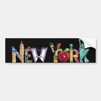 New York City Autoaufkleber