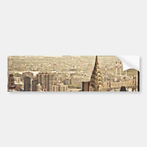 New York City - Chrysler-Gebäude Auto Aufkleber