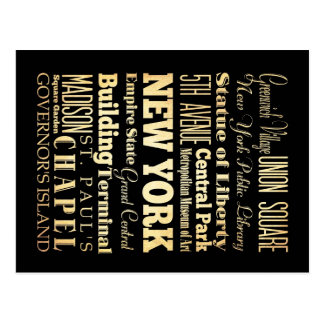 New York City der New- YorkStaats-Typografie-Kunst Postkarte