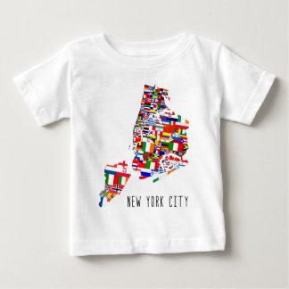 New York City kennzeichnet Baby-T - Shirt