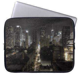 New York City nachts HDR Computer Sleeve Schutzhüllen