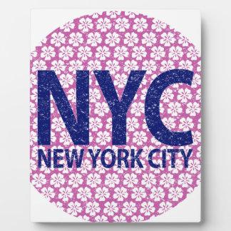 New York City NYC Fotoplatte