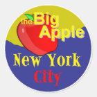 New York City Runder Aufkleber