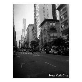 New York City Schwarzweiss Postkarte