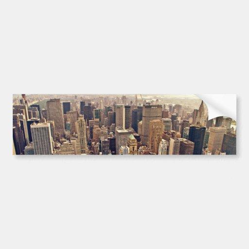 New York City von oben Auto Aufkleber