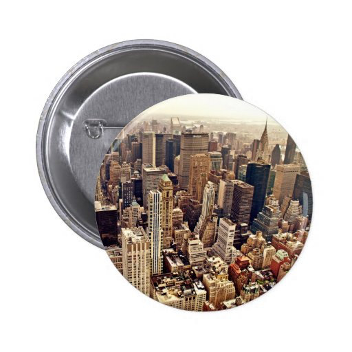 New York City von oben Anstecknadelbutton