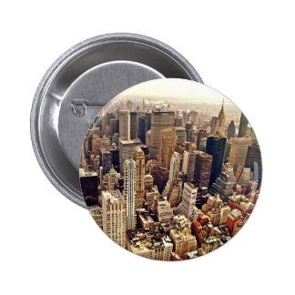 New York City von oben Runder Button 5,7 Cm