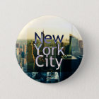 New- York Cityandenken Runder Button 5,7 Cm