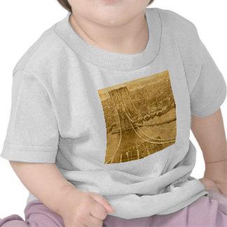 New- York CityBrooklyn-Brücken-Bau 1870s T-shirt