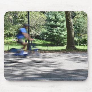 New- York CityCentral Park-Radfahrer-Fotografie Mousepad
