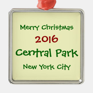 NEW- YORK CITYCentral Park-WEIHNACHTSverzierung Silbernes Ornament