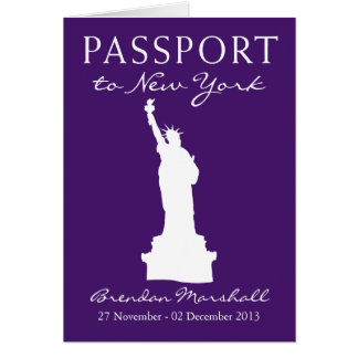 New- York Citygeburtstags-Pass Mitteilungskarte