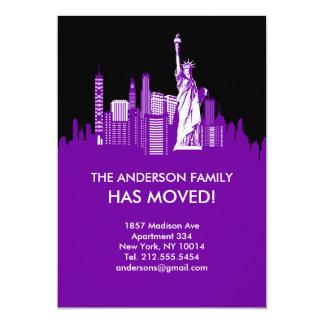New- York Cityhimmel-Linie bewegliche Mitteilung 12,7 X 17,8 Cm Einladungskarte